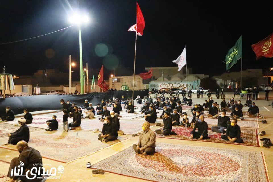 گزارش تصویری از مراسم عزاداری شب عاشورا محرم ۹۹ هیئت سیدالشهدا محله بالا شهر انار