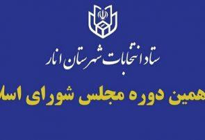 اعضای هیات اجرایی یازدهمین دوره انتخابات مجلس شورای اسلامی در انار معرفی شدند