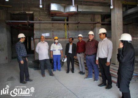 بازدید رئیس و اعضای شورای شهرستان انار از پروژه احداث بیمارستان