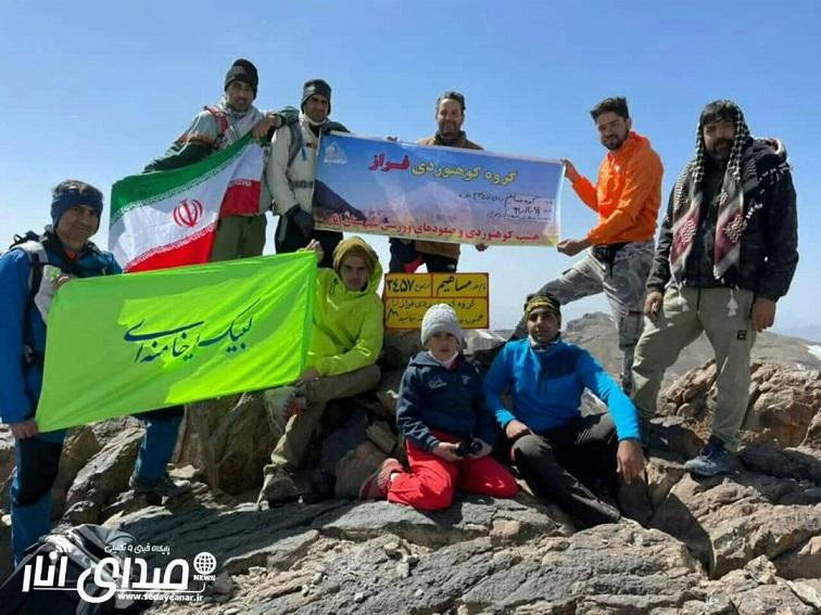صعود گروه کوهنوردی فراز انار به قله ۳۴۵۷متری مساهیم +تصاویر