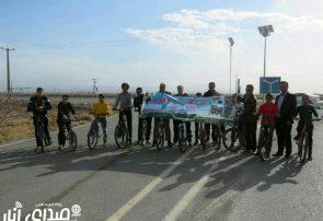 همایش دوچرخه سواری به مناسبت یادبود سردار شهید حاج قاسم سلیمانی در امین شهر