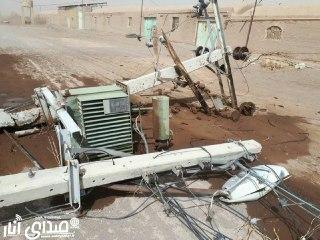 خسارت  میلیاردی طوفان به شبکه برق انار+تصاویر