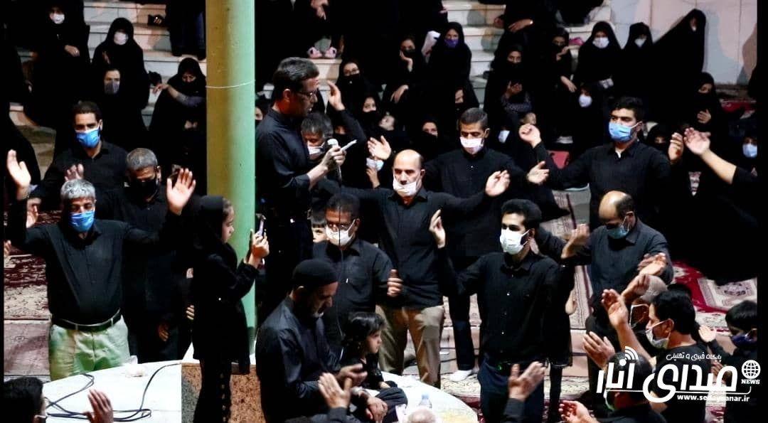 گزارش تصویری از مراسم عزاداری شب عاشورا محرم ۹۹ هیئت سیدالشهدا محله پایین شهر انار
