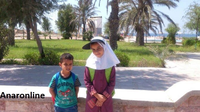 تصاویری از اولین دانش آموزان اناری در جزیره ایرانی ابوموسی