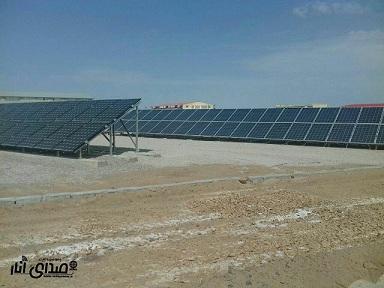 افتتاح نیروگاه خورشیدی و کلنگ زنی چندین طرح در دانشگاه آزاد اسلامی انار+تصاویر