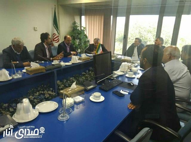 دیدار فرماندار،شهردار و اعضای شورای شهر انار با رئیس سازمان شهرداری ها و دهیاری های کشور