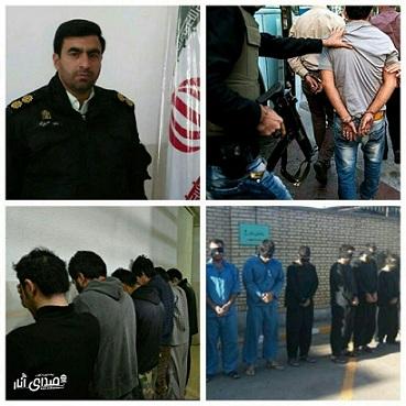 دستگیری ۶ نفر سارق در عملیات ضربتی پلیس انار