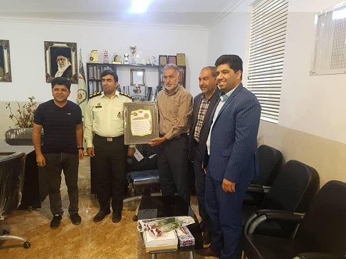 دیدار اعضای هیئت فوتبال  و رییس  اداره ورزش و جوانان انار با فرماندهی انتظامی شهرستان