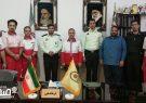 دیدار پرسنل و اعضاء جمعیت هلال احمر با فرمانده نیروی انتظامی شهرستان انار