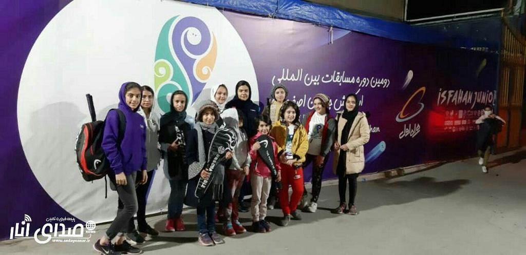درخشش اسکواش بازان اناری در مسابقات بین المللی اصفهان جونیور