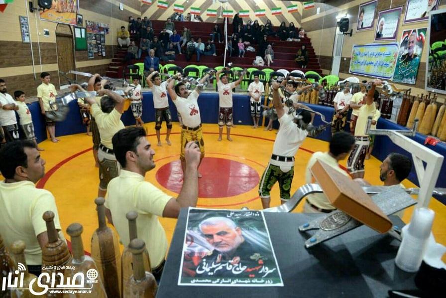 برگزاری ورزش باستانی به مناسبت بزرگداشت چهلمین روز شهادت سپهبد قاسم سلیمانی در انار